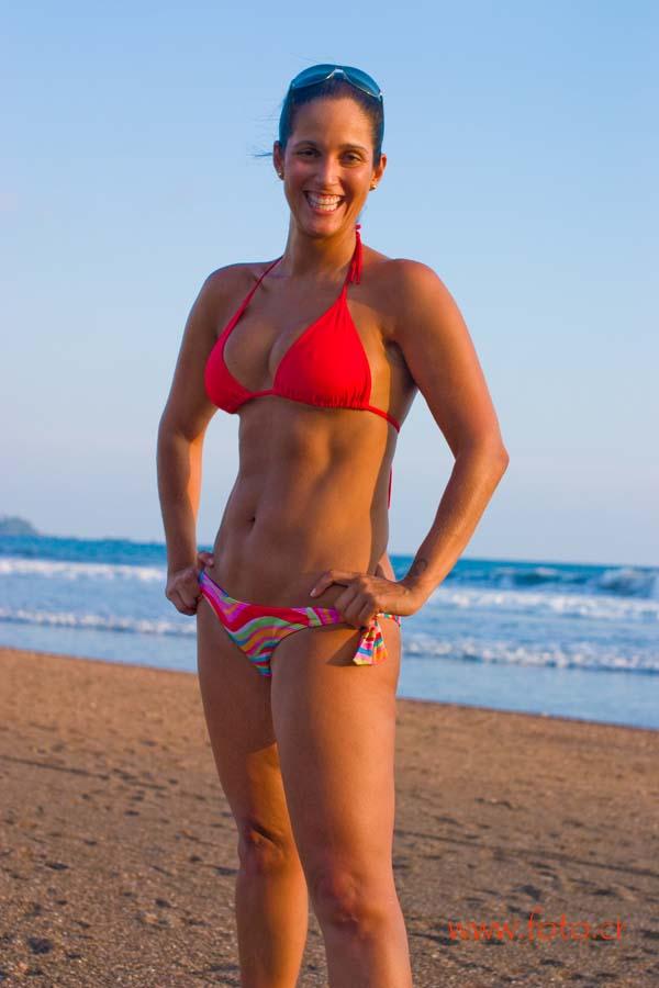 Adrianna en la playa. Adrianna on the beach